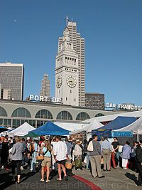San Francisco Ferry Plaza Farmers Market  @ Ferry Building Marketplace - it's the hot place to be on a Saturday morning!