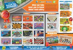 Road safety education news June 10 2013. Examples of primary student road safety inquiry and their banner artworks available to view in a single document.