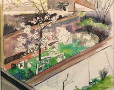 The Backyard at the Rue Archimède, 1938, Felix Nussbaum