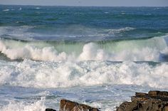 Breaking wave in Saligo Bay, Isle of Islay