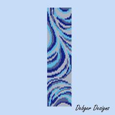Blueberry Swirls - Loom Bracelet Cuff Pattern (SAVING buy 2 - 3rd free )