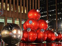 Christmas in New York City, those are big balls!!