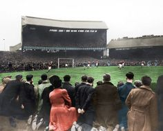 1948 Stamford Bridge | Courtesy of George Chilvers, encapsulating black & white in colour