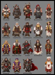ArtStation - Dwarf characters concept art, Anthony Avon