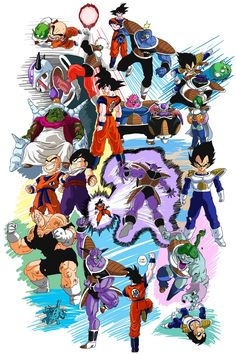 Dragon Ball Z - Namek saga Dragon Ball Gt, Anime Echii, Manga Dragon, Bd Comics, Estilo Anime, Z Arts, Fan Art, Saga, Illustration