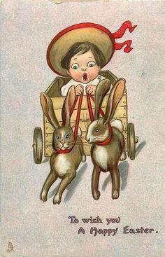 Alenquerensis: Postais de Páscoa de Katherine Gassaway, datados de 1908 - Katherine Gassaway Easter Postcards from 1908