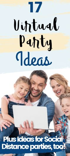 12 Creative Virtual Parties You Can Hold Over Video Chat - great for social distancing during the Coronavirus via Virtual Families, Adult Birthday Party, Birthday Ideas, Happy Birthday, Camping Set Up, Virtual Class, Work Party, Princess Party, Party Games