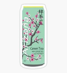 Arizona Green Tea Can Sticker