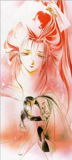 """Art from """"Vampire Princess Yui"""" by manga artist Narumi Kakinouchi."""