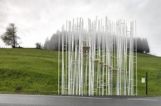 sou fujimoto among architects for bus stop designs in krumbach, austria