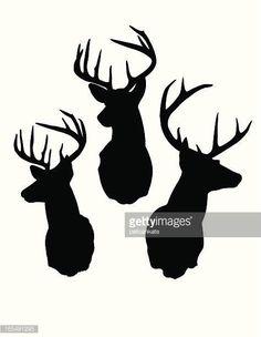Deer Kopf Silhouette