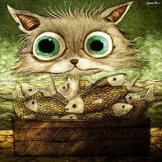 Lots of cat art in link