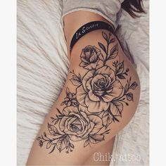 Simply of Beautiful Flower Tattoo Drawing Ideas for Women,Tattoos You will spend some time on your body. Tattoo is not a temporary thing and it will stay with you until the p … Like: Side Hip Tattoos, Hip Tattoos Women, Leg Tattoos, Body Art Tattoos, Small Tattoos, Sleeve Tattoos, Tatoos, Tattoo Thigh, Tattoo Women