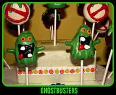 Today the Cake-Pop Cuties made a Ghostbusters Themed Cake-Pops for a little boys B-day and I think We rocked it!!