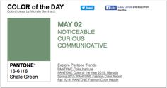 APPart – Mobile Art – Pantone Color of the Day – 'Shale Green' – TheAppWhisperer