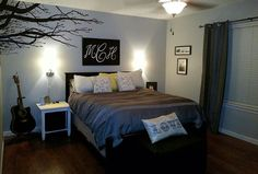 Bedroom DIY Tree Branches Wall Painting
