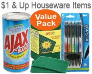 ONE DOLLAR & UP HOUSEWARE ITEMS
