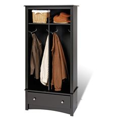 Broadway Black Entryway Organizer - Overstock Shopping - Great Deals on Prepac Media/Bookshelves