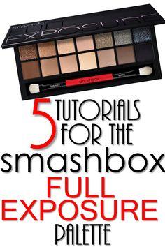5 Smashbox Full Exposure Palette Tutorials