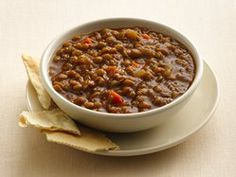 Slow-Cooker Brown Lentil Soup We add 1cup barley, 2 cup water, S&P, crushed red pepper, and 2 stocks chopped celery.