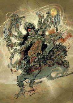 Country which worships Female God's like Durga yet Foetecide is common Kali Goddess, Mother Goddess, Goddess Art, Durga Maa, Shiva Shakti, Kali Hindu, Navratri Images, Kali Mata, Mudras