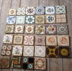 More pattern ideas for painting a hearth onto the slab. Repin: Assorted Victorian fireplace/hearth tiles
