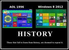 AOL 1996 vs. Microsoft Windows 8