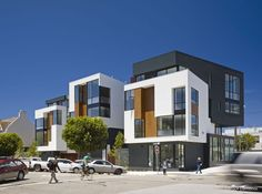 Built by Kennerly Architecture & Planning in Richmond District, United States with date 2013. Images by Bruce Damonte. Not every part of old San Francisco is perfect. Here was a hiccup in the fabric where two streets slide together at a...