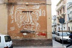 Vhils New Mural In Grottaglie, Italy         - Powered by Pin-This.com