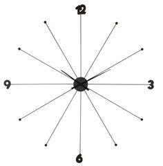 Zegar Like Umbrella Black (Kare Design)