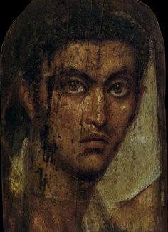 """EGYPTE – Portraits du Fayoum – Arrête ton char """"The Fayum Portraits"""" Roman Art More Pins Like This At FOSTERGINGER @ Pinterest"""