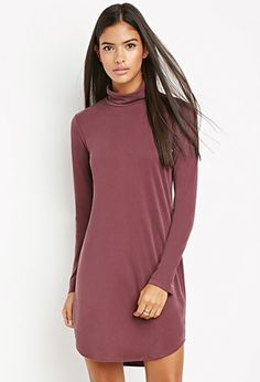 Funnel Neck Textured Dress | LOVE21 | #f21contemporary