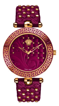 Vanitas Red by Versace for Women's Watches. Vanitas watches are the latest addition to the collection of accessories by the same name designed by Donatella Versace. Stylish Watches, Luxury Watches, Versace Watches, Versace Versace, Versace Jewelry, By Any Means Necessary, Audemars Piguet, Beautiful Watches