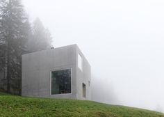 Boxy concrete house in the mountains of westernAustria by OLKRÜF.