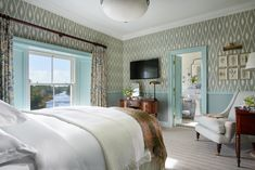 Ballynahinch Castle Hotel, Ballynahinch, Classic Double or Twin Room, River View, Guest Room Galway Ireland, Connemara, Luxury Accommodation, Royal Doulton, Classic Elegance, View Photos, Guest Room, Building, Places