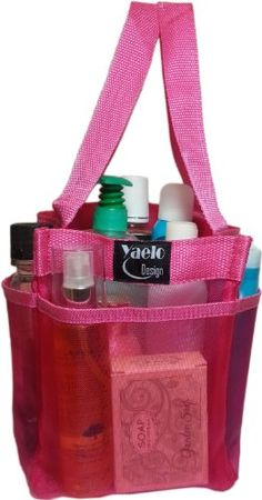Shower Caddy - Quick Dry Hanging Toiletry and Bath Organizer with 7 Storage Compartments - Perfect Dorm, Gym ,Camp & Travel Tote Bag - Convenient and Sturdy Double Woven Carrying Handle - High Quality Breathable Mesh Fabric Caddy Shower - 100% Money Back Guarantee PINK Yaelo,http://www.amazon.com/dp/B00G6DMCEC/ref=cm_sw_r_pi_dp_v12ltb1FCF92HC7B