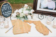 creative state guest books | Danielle Nichol #wedding