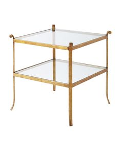 There's an ethereal elegance to a tempered glass and gilt-iron table – especially one with a meet-me-in-Paris-in-the-40s vibe. The double-decker design gives you two times the curating potential.