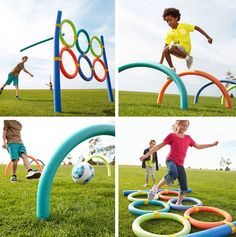 Use pool noodles to make fun outdoor games for the kids.:- Use pool noodles to make fun outdoor games for the kids.: Use pool noodles to make fun outdoor games for the kids. Kids Obstacle Course, Backyard Obstacle Course, Outside Games, Outdoor Games For Kids, Olympic Games For Kids, Picnic Games For Kids, Outdoor Activities For Toddlers, Outdoor Party Games, Pool Noodles