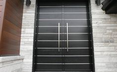 Porte d'entrée – façade en bois – Moderne – 529