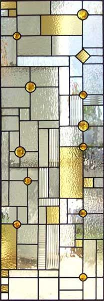 Stained glass window for cabinet.