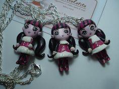 Draculaura Chibi  Monster High Necklace by MartitaCatita on Etsy, $19.00