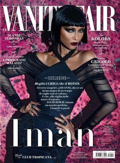 Iman in Balenciaga for Vanity Fair Italia, June 2015 issue. Styled by Joseph Turla. Photography by @markusandkoala