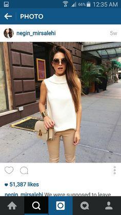 1 Negin Mirsalehi, Good Hair Day, Office Looks, Work Fashion, Business Women, Work Wear, Cool Style, White Dress, Street Style