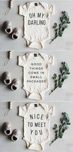 The Cutest Newborn Baby Coming Home Outfit Onesies | TheOystersPearl on Etsy #babycominghomeoutfit