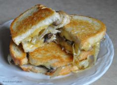 Grilled Cheese with Smoked Gouda, Roasted Mushrooms & Onions by Anna's Shortcakes