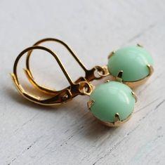 mint green earrings by silk purse, sow's ear | notonthehighstreet.com