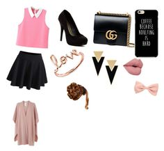 """""""for date"""" by hasmik-shirinyan ❤ liked on Polyvore featuring WithChic, Michael Antonio, Gucci, Sydney Evan, Yves Saint Laurent and L.K.Bennett"""