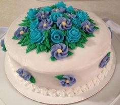 Wilton Cake Decorating Course 1...my final cake