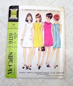 McCall's 9119 bust 32 34 Uncut Vintage mod by momandpopcultureshop
